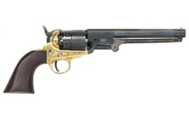 1851 Navy Engraved .44 Cal Black Powder Revolver - Blued, by Traditions - FR185118, Black Powder - No FFL Required.