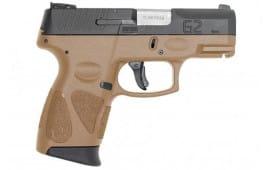 "Taurus G2S 9mm 3.25"" 7rd Sub Compact Black/FDE - TX1G2S931T"