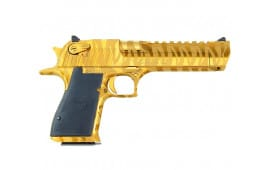 "Magnum Research Desert Eagle 50AE Pistol, 6"" Titanium Gold Tiger Stripe - MR DE50TGTS"
