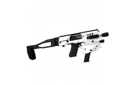 CAA USA Micro Conversion Kit Generation 2.0 For Glock Handguns 17/19/19X/22/23/31/32/45 NO NFA REQUIRED - White Finish - MCKGEN2W