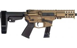 """CMMG Mk17 Semi-Automatic AR-15 Pistol 5"""" Barrel 9mm 21rd - Burnt Bronze - 92A17DA-BB"""