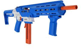 GameFace Prime Blaster By Crosman - Pump Action Foam Dart Gun - Spring Powered - 130 FPS - 15 Round Capacity - Blue - Rated 16 Years Plus - GFJBB