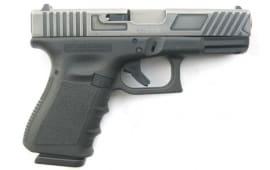 """Glock 19 Gen 3 NIB Battle Worn w/Custom Slide Cuts 4"""" Barrel 9mm 3-15 RD Magazines - GLUI1950204BC"""
