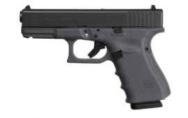 "Glock G19 Gen 4 Semi-Automatic Pistol 4"" Barrel 9MM W/ (3) 15rd Magazines - Grey Finish - PG1950203GF"