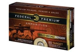 Federal GM65CRDBH1 Gold Medal 6mm Creedmoor 105 GR Boat Tail Hollow Point - 20rd Box