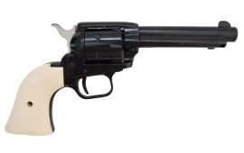 """Heritage Rough Rider Revolver - .22 LR / .22 Mag Combo, 4.75"""" Blued with Custom White Grips"""