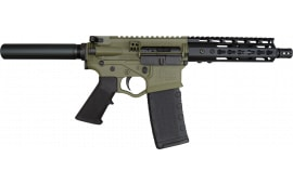 "ATI Omni Hybrid Maxx AR15 Pistol, 5.56/.223 7.5"" BBL, Battlefield Green, 7"" Keymod - ATIGOMX556BFGP4"