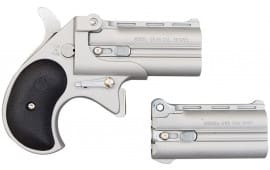 Cobra Derringer Big Bore .38 Special / 9mm Combo Over/Under, Nickel Satin CBBSB2BS