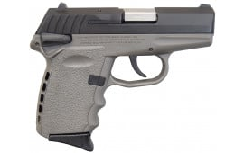 SCCY CPX-1 CBSG 9mm Polymer Frame Pistol, Black on Sniper Gray, With Safety - DAO 10+1 w/ 2 Mags