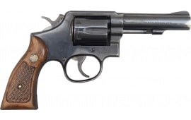 """Smith & Wesson Model 10 M&P NYS DOC Turn-In Revolvers 38 Spl 4"""" Blued w/Leather Holster & Mag Pouch, 6rd"""