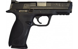 "Smith & Wesson M&P 9 Pistol 309301, 9mm, 4 1/2"", 3 Dot Sight, Black Finish, 17+1 Rd - Factory New W / 3-17 Round Mags"