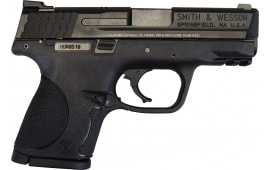 "Smith & Wesson M&P 9 Pistol 309304, 9mm, 3 1/2"", 3 Dot Sight, Black Finish, 12+1 Rd - Factory New W / 3-12 Round Mags"