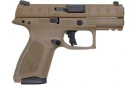"""Beretta APX Centurion Semi-Auto Pistol 9mm (2) 15rd Mags 3.7"""" Barrel w/ FDE Finish - JAXQ92105"""