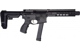 "Brigade MFG BM-9 Echo Pistol - FOSTECH EDITION - Forged 9mm AR Pistol 9"" BBL 8"" U-Rail, Graphite Black Cerakote Finish, Adjustable SBA3 Brace - W / 1-33 Rd O.E.M. Glock Magazine, Fostech Echo II Trigger Factory Installed."