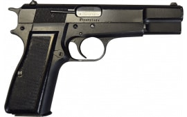 Browning Hi-Power 9mm Pistol, Original Belgian Made Surplus Police Pistols By F.N Herstal , W / 1 - 13 Round Mag - NRA Surplus Good Overall