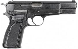 Browning Hi-Power 9mm Pistol, Original Belgian Made Police Surplus By F.N Herstal, Model MKII, 13 Rd Mag - NRA Surplus Good - Code HG5985