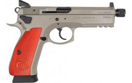 "CZ 75 SP-01 Tactical 5.21"" Barrel 9mm 18rd - Urban Grey finish W/ Red Aluminum Grips - 91231"