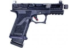 "Faxon Firearms FX-19 Hellfire Compact Semi-Auto Pistol 9mm 20rd 4"" Match Grade Threaded Barrel Optics Ready Slide Suppressor Height Night Sights - FX-19-HF"