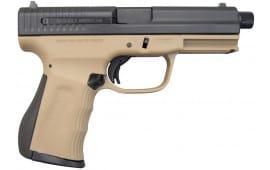 FMK 9C1 G2 9mm Pistol, Threaded Barrel - Desert Earth (2)14 Rd Mags - FMKG9C1G2TDE