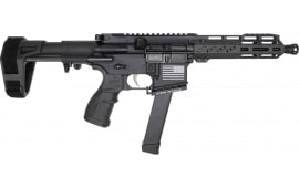 "Fostech Bradley Fighting Tech-15 Semi-Automatic AR-15 Pistol 7.5"" Barrel 9mm - Includes ECHO AR-II Trigger & PDW Pistol Brace - 8150-BLK-9MM-6230-4150"