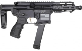 "Fostech Bulldog Tech-15 Semi-Automatic AR-15 Pistol 4.5"" Barrel 9mm 33rd - Echo AR-II Trigger, Deadfoot Arms SCW, Tailhook Brace - 8153-BLK-9MM-6230-4150"