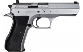 "IMI Jericho 941F 9mm Semi-Auto Pistol 4.5"" BBL, Satin Nickel Finish. 15 Rd - Israeli Made - Good Surplus Condition - With Police Star Markings"