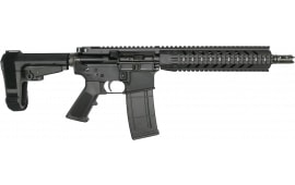 "RGuns RGQ Semi-Automatic AR-15 Pistol 10.5"" Barrel .223/5.56NATO 30rd - YHM Flash Suppressor - SB Tactical SBA3 Brace - Black Finish"