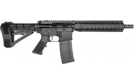 "RGuns RGQ Semi-Automatic AR-15 Pistol 10.5"" Barrel .223/5.56NATO 30rd - YHM Flash Suppressor - Adjustable SB Tactical SBA4 Brace - Black Finish"