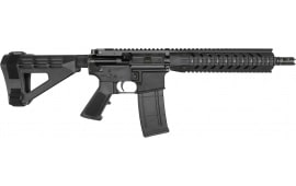 "RGuns RGQ Semi-Automatic AR-15 Pistol 10.5"" Barrel .223/5.56NATO 30rd - YHM Flash Suppressor - SB Tactical SBM4 Brace - Black Finish"