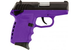 SCCY CPX-1 CBPU 9mm Polymer Frame Pistol w/ Safety, Blued Steel Slide on Purple, DAO 10+1 w/ 2 Mags