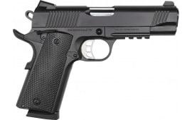 "Tisas B45R Semi-Automatic 1911 Pistol 4.25"" Barrel .45ACP 8rd - Black Cerakote W/ Accessory Rail"