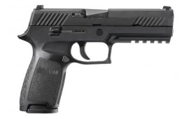 Sig Sauer P320 Pistol Full Size 9mm, Police Trade-ins - Factory Refurbished by Sig - Standard Sights.