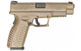 "Springfield Armory XD(M) Semi-Automatic Pistol 4.5"" Barrel 10mm 15rd - FDE Finish - XDM94510FHCE"