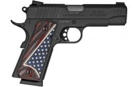 "Taurus 11911COMUSGR1 1911 COM. 4.25"" FS Black W.US Flag Grips"