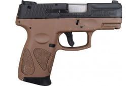 Taurus PT111 Millennium Pro G2 9mm Pistol Black/BROWN 12+1
