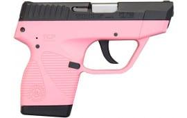 "Taurus 738 TCP .380 ACP 2.8"" 6+1 Pistol Pink/Black 1-738031P"