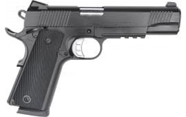 "Zigana Semi-Automatic 1911 B45R Duty Pistol 5"" Barrel .45ACP 8rd - Black Cerakote W/ Accessory Rail - 1911DB45R"