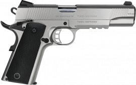 "Zigana PC 9 Semi-Automatic 1911 Pistol 5"" Barrel 9mm 9rd - W/ Accessory Rail - Stainless Steel Finish"