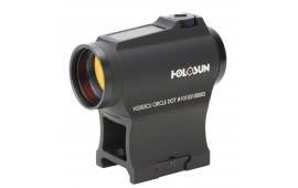 Holosun Paralow Circle Red Dot Dual Ret Solar w/ HI/LO Mount Black Housing HS503CU