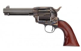 "Taylors and Company 555149DE 1873 Cattleman Gunfighter Taylor Tuned Single 4.75"" 6 rd Walnut Army Sized Grip CCH Frame Blued Revolver"