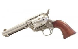 "Taylors and Company 555136 1873 Cattleman Antique Single 4.75"" 6 rd Walnut Grip Antiqued Revolver"