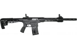 """AR-12 Semi Auto, AR-15 Style 12GA Shotgun by Panzer Arms of Turkey, New G4 Model With Factory Upgrades and Choke Tubes, 3"""" Chambers - Black"""