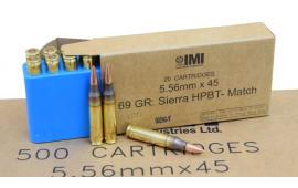 IMI 5.56x45 69 GR Sierra HPBT OTM Match King Razor Core Ammo IMI69OTMC - 20rd Box