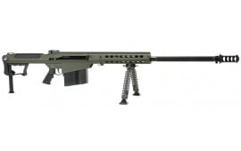"Barrett 14555 M107A1 50BMG 29"" Black Fluted Barrel OD Green Rcvr"