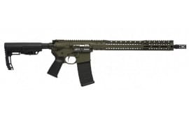 "Black Rain BROSCOUTOD Recon BRO Scout Semi-Auto .223/5.56 NATO 16"" 30+1 Mission First OD Green Cerakote"