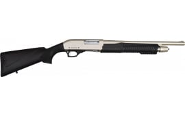 "Armscor Rock Island Armory PA 3-IN-1 12GA Pump Action Shotgun Combo 28""/18"" Chrome 4rd Black Synthetic"