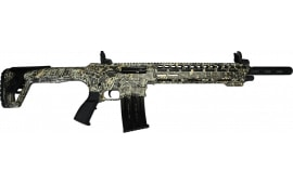 "AR-12 Semi Auto, AR-15 Style 12GA Shotgun by Panzer Arms of Turkey, 3"" Chambers - Special Woodland Camo Cerakote Finish"