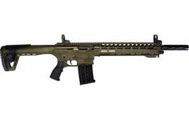 "AR-12 Semi Auto, AR-15 Style 12GA Shotgun by Panzer Arms of Turkey, 3"" Chambers - OD Green"