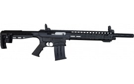 "AR-12 Semi Auto, AR-15 Style 12GA Shotgun by Panzer Arms of Turkey, 3"" Chambers - Black"