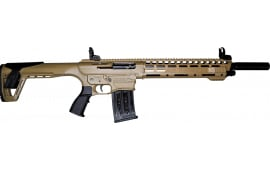 "AR-12 Semi Auto, AR-15 Style 12GA Shotgun by Panzer Arms of Turkey, 3"" Chambers - Tan Finish"